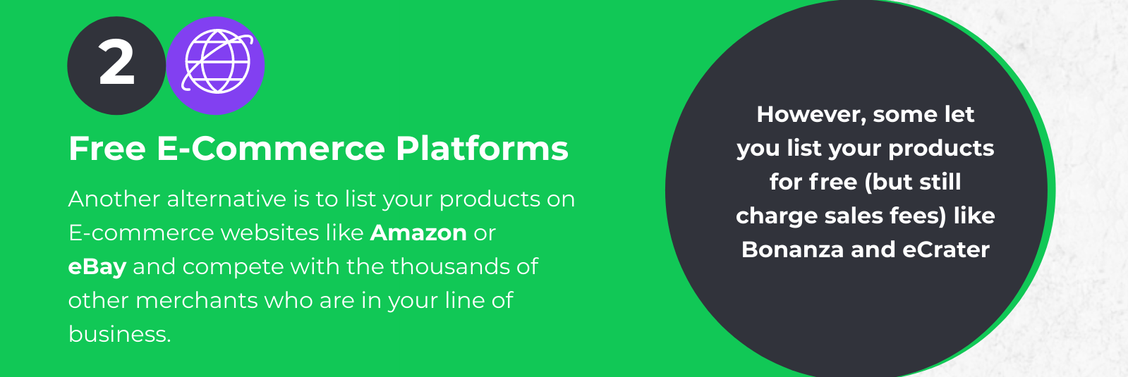 Sell on free ecommerce platforms