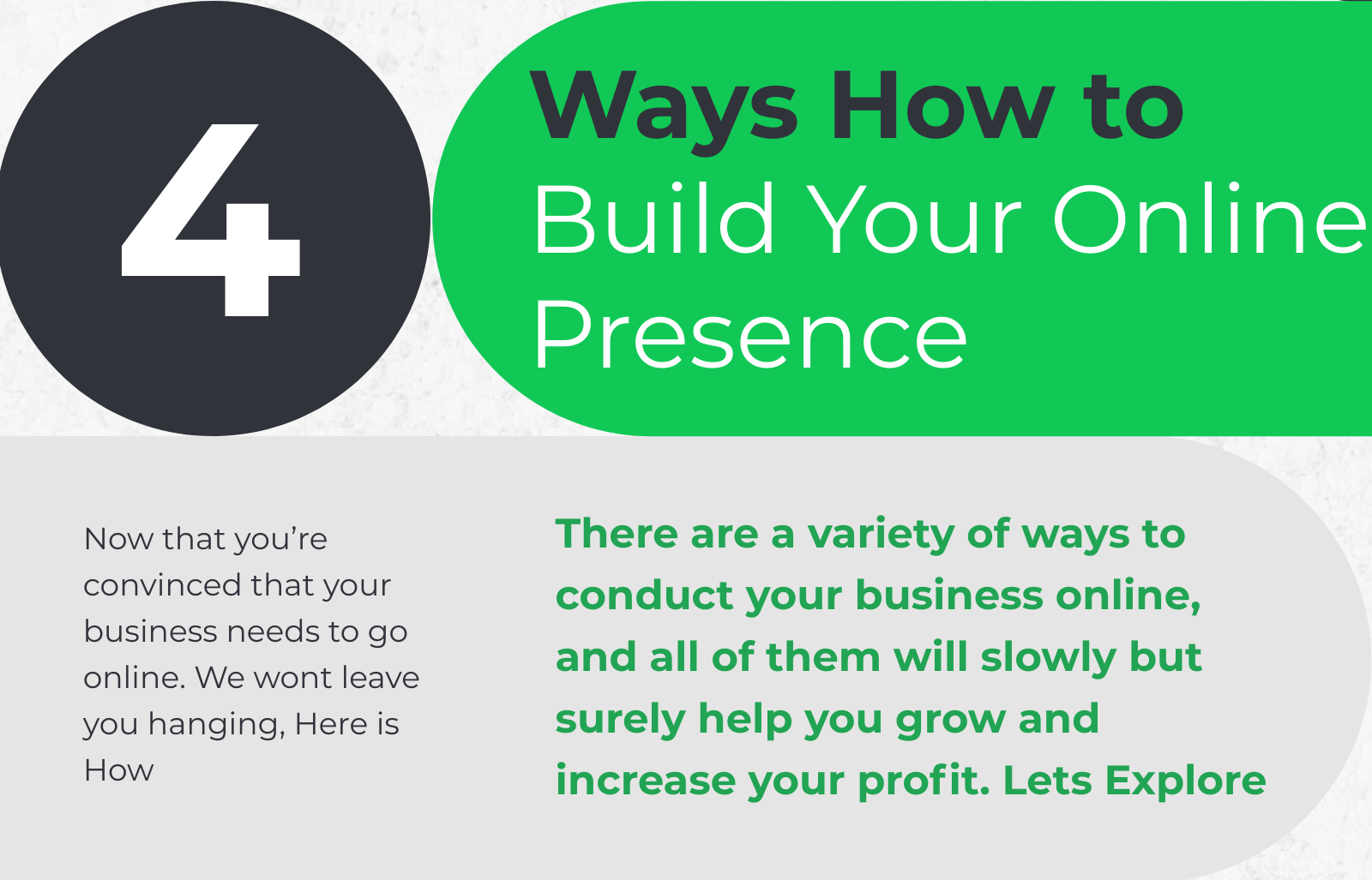 how to build your online presence