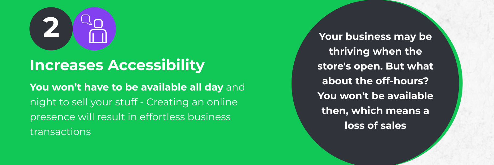 Increase accessibility by ecommerce